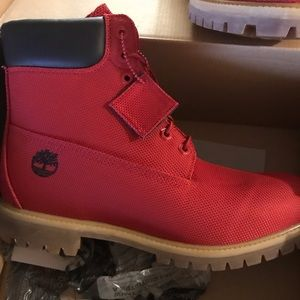 Men's Red Timberland boots